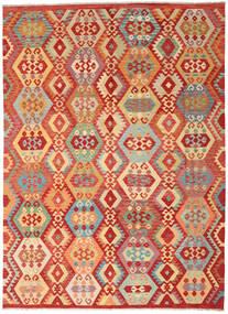 Kilim Afghan Old Style Tapis 248X343 D'orient Tissé À La Main Rouge/Marron Clair (Laine, Afghanistan)
