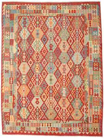 Kilim Afghan Old Style Tapis 262X347 D'orient Tissé À La Main Rouille/Rouge/Beige Foncé Grand (Laine, Afghanistan)