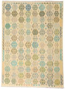 Kilim Afghan Old Style Tapis 258X346 D'orient Tissé À La Main Beige Foncé/Beige Grand (Laine, Afghanistan)