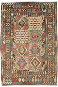 Kilim Afghan Old Style Tapis 195X295 D'orient Tissé À La Main Marron Clair/Gris Foncé (Laine, Afghanistan)