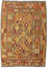 Kilim Afghan Old Style Tapis 206X298 D'orient Tissé À La Main Marron Clair/Marron (Laine, Afghanistan)