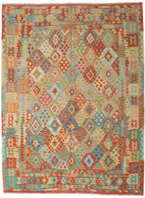 Kilim Afghan Old Style Tapis 254X344 D'orient Tissé À La Main Beige Foncé/Rouge Foncé Grand (Laine, Afghanistan)