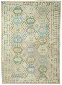 Kilim Afghan Old Style Tapis 245X294 D'orient Tissé À La Main Beige Foncé/Marron Clair (Laine, Afghanistan)