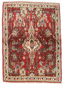 Senneh Tapis 107X150 D'orient Fait Main Marron Foncé/Rouille/Rouge (Laine, Perse/Iran)