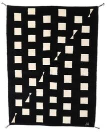 Gabbeh Indo Tapis 144X198 Moderne Fait Main Noir/Beige (Laine, Inde)