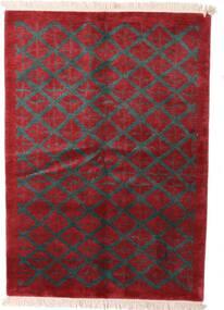 Himalaya Tapis 144X206 Moderne Fait Main Rouge Foncé/Noir (Laine, Inde)