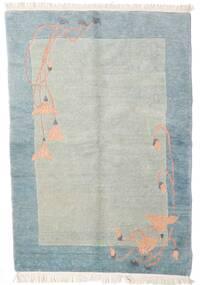 Himalaya Tapis 140X197 Moderne Fait Main Gris Clair/Bleu Clair (Laine, Inde)