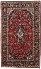 Kashan Tapis 178X294 D'orient Fait Main Rouge Foncé/Marron Foncé (Laine, Perse/Iran)