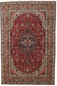 Tabriz Tapis 193X290 D'orient Fait Main Marron Foncé/Rouge Foncé (Laine, Perse/Iran)