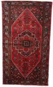 Hamadan Tapis 133X236 D'orient Fait Main Rouge Foncé (Laine, Perse/Iran)