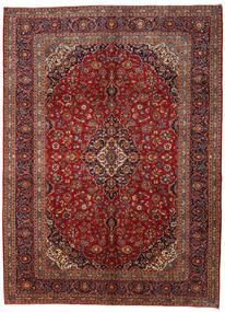 Kashan Tapis 295X406 D'orient Fait Main Rouge Foncé/Gris Foncé Grand (Laine, Perse/Iran)