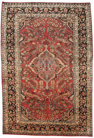 Mahal Tapis 238X335 D'orient Fait Main Marron Foncé/Rouge Foncé (Laine, Perse/Iran)