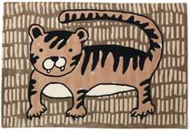 Cool Cat - Beige Tapis 120X180 Moderne Marron/Marron Clair (Laine, Inde)