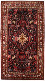 Nahavand Tapis 156X278 D'orient Fait Main Rouge Foncé/Noir (Laine, Perse/Iran)