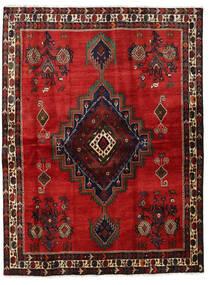 Afshar Tapis 164X220 D'orient Fait Main Rouille/Rouge/Rouge Foncé/Noir (Laine, Perse/Iran)