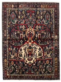 Afshar Shahre Babak Tapis 136X185 D'orient Fait Main Rouge Foncé/Marron Clair (Laine, Perse/Iran)