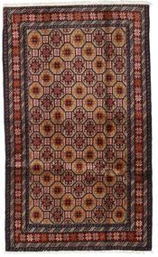 Baloutche Tapis 98X164 D'orient Fait Main Rouge Foncé/Marron (Laine, Perse/Iran)