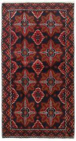 Baloutche Tapis 103X193 D'orient Fait Main Rouge Foncé/Marron Foncé (Laine, Perse/Iran)