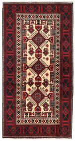 Baloutche Tapis 100X190 D'orient Fait Main Marron Foncé/Rouge Foncé (Laine, Perse/Iran)