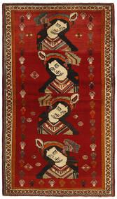 Ghashghaï Tapis 119X212 D'orient Fait Main Rouge/Rouge Foncé (Laine, Perse/Iran)