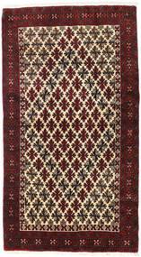 Baloutche Tapis 92X167 D'orient Fait Main Marron Foncé/Rouge Foncé (Laine, Perse/Iran)