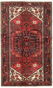 Hamadan Tapis 122X197 D'orient Fait Main Marron Foncé/Rouge Foncé (Laine, Perse/Iran)
