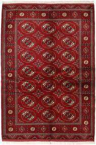 Turkaman Tapis 136X200 D'orient Fait Main Rouge Foncé/Rouge (Laine, Perse/Iran)