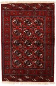 Turkaman Tapis 110X160 D'orient Fait Main Rouge Foncé/Marron Foncé (Laine, Perse/Iran)