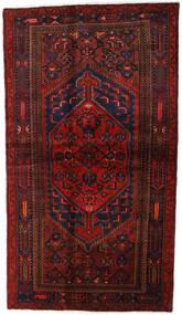Hamadan Tapis 132X228 D'orient Fait Main Rouge Foncé (Laine, Perse/Iran)