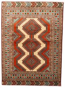 Turkaman Tapis 125X172 D'orient Fait Main Rouge Foncé/Marron Foncé (Laine, Perse/Iran)