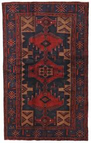 Hamadan Tapis 124X201 D'orient Fait Main Rouge Foncé/Noir (Laine, Perse/Iran)