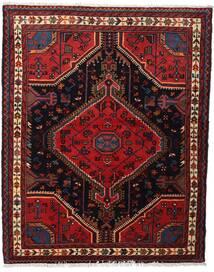 Toiserkan Tapis 114X143 D'orient Fait Main Rouge Foncé (Laine, Perse/Iran)