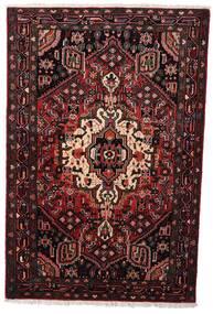 Hamadan Tapis 104X158 D'orient Fait Main Rouge Foncé (Laine, Perse/Iran)