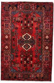 Nahavand Tapis 103X161 D'orient Fait Main Rouge Foncé/Marron Foncé (Laine, Perse/Iran)