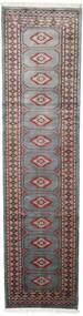 Pakistan Boukhara 2Ply Tapis 75X295 D'orient Fait Main Tapis Couloir Gris Foncé/Noir (Laine, Pakistan)