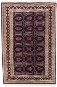 Turkaman Tapis 134X197 D'orient Fait Main Rouge Foncé/Marron Foncé (Laine, Perse/Iran)