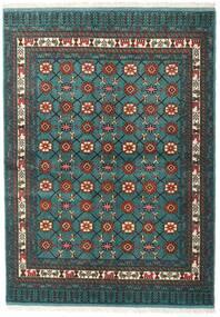 Turkaman Tapis 136X187 D'orient Fait Main Turquoise Foncé/Gris Foncé (Laine, Perse/Iran)