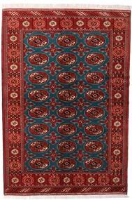 Turkaman Tapis 132X195 D'orient Fait Main Rouge Foncé/Noir (Laine, Perse/Iran)