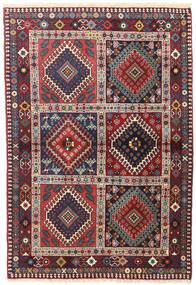 Yalameh Tapis 104X153 D'orient Fait Main Rouge Foncé/Violet Foncé (Laine, Perse/Iran)
