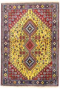 Yalameh Tapis 103X150 D'orient Fait Main Rouge Foncé/Bleu Foncé (Laine, Perse/Iran)