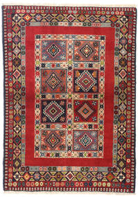 Yalameh Tapis 102X144 D'orient Fait Main Rouille/Rouge/Marron Foncé (Laine, Perse/Iran)