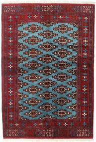 Turkaman Tapis 133X190 D'orient Fait Main Rouge Foncé/Bleu (Laine, Perse/Iran)