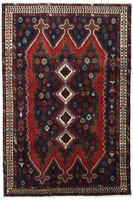 Afshar Tapis 114X172 D'orient Fait Main Noir/Rouge Foncé (Laine, Perse/Iran)