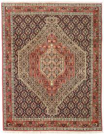 Senneh Tapis 123X158 D'orient Fait Main Marron Foncé/Marron Clair (Laine, Perse/Iran)