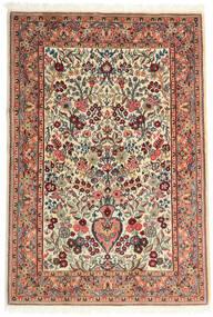 Ghom Kork/Soie Tapis 108X157 D'orient Fait Main Beige/Marron Foncé (Laine/Soie, Perse/Iran)