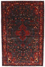 Nahavand Tapis 156X245 D'orient Fait Main Rouge Foncé/Noir (Laine, Perse/Iran)