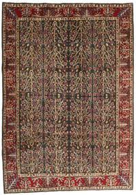 Kerman Tapis 202X285 D'orient Fait Main Marron Clair/Noir (Laine, Perse/Iran)