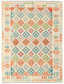 Kilim Afghan Old Style Tapis 180X238 D'orient Tissé À La Main Beige/Rose Clair (Laine, Afghanistan)