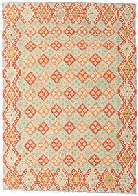 Kilim Afghan Old Style Tapis 208X293 D'orient Tissé À La Main Beige/Orange/Beige Foncé (Laine, Afghanistan)