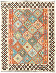 Kilim Afghan Old Style Tapis 157X201 D'orient Tissé À La Main Beige/Orange (Laine, Afghanistan)